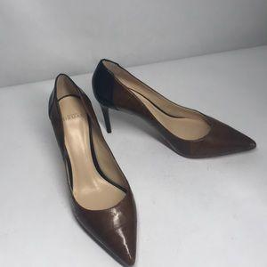 Alexandre Birman Black & Brown Leather Heels